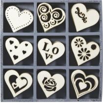 Набор мини-заготовок, Сердца, 10,5*10,5 см, 45 шт, Knorr Prandell