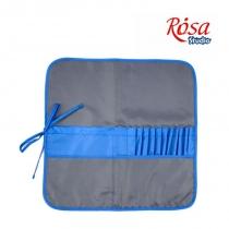 Пенал для пензлів, тканина (37х37см), асфальт+синій, ROSA Studio