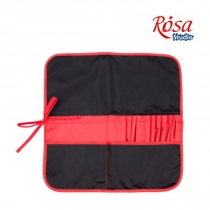 Пенал для кистей, ткань (37х37см), черный + красный, ROSA Studio