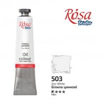 Краска масляная, Белила цинковые, 60мл, ROSA Studio