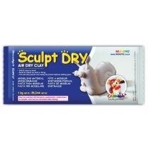 Маса для моделювання, біла, самозастигаюча, 500г, ''Sculpt Dry'', MUNGYO