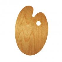 Палітра дерев'яна, овальна, ергономічна, промаслена, 25х35см, ROSA Gallery