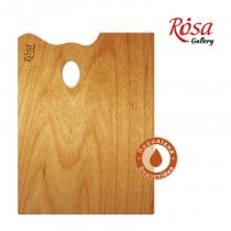 Палітра дерев'яна, прямокутна, ергономічна, промаслена, 25x35см, ROSA Gallery