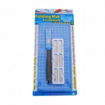 Набор для моделирования 2043: коврик самовосстанавливающийся, нож макетный, 6 сменных лезвий, DAFA