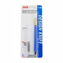 Нож макетный C-604 , пластиковая ручка, 8 сменных лезвий, DAFA