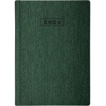 Ежедневник датированный 2020, TWEED, зеленый, А5