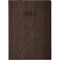 Ежедневник датированный 2020, TWEED, коричневый, А5