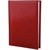 Ежедневник датированный 2020, FLASH, красный, А6