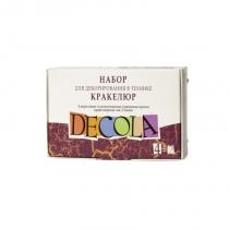 Набор акриловых красок для декора, глянцевый,  4*20 мл + кракелюрный лак 2шт., Deсola