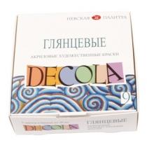 Набор акриловых красок для декора, глянцевый,  9*20мл, Deсola