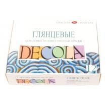 Набор акриловых красок, глянцевый, 12*20мл, Decola