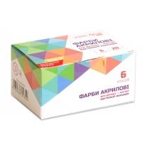 Набор акриловых красок для декора, матовый, пастельные цвета, 6 цв.*20 мл, ROSA START