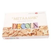 Набор акриловых красок для декора, металлик, 8 * 18 мл, Decola