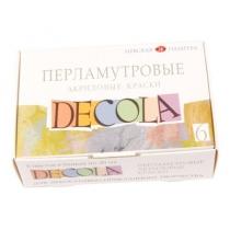 Набор акриловых красок для декора, перламутровый, 6*20мл, Decola