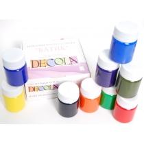 Набір акрилових фарб по шовку ''DECOLA'', 9кол.*50мл