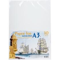 Бумага для акварели А3, 10 листов, 200 г / м2, в п / п пакете