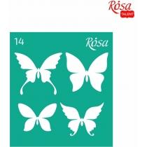 Трафарет многоразовый самоклеющийся 9 * 10см, №14, ROSA TALENT