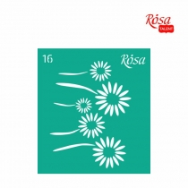 Трафарет многоразовый самоклеющийся 9 * 10см, №16, ROSA TALENT