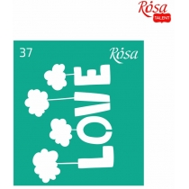 Трафарет многоразовый самоклеющийся 9 * 10см, №37, ROSA TALENT