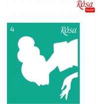 Трафарет многоразовый самоклеющийся 9 * 10см, №4, ROSA TALENT