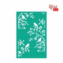 Трафарет многоразовый самоклеющийся, №1501, Фоновый 13 * 20см, Серия