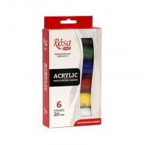Набор акриловых красок, ROSA Studio,  6*20мл