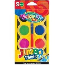 """Краски-таблетки акварельные с кисточкой """"JUMBO"""", 8 цветов"""
