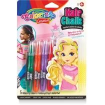 Мел для волос в форме карандашей с расческой, 5 стандартных цветов