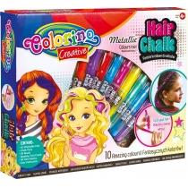 Подарочный набор для декора волос -металлизированный мел для волос в форме карандашей, 10 цветов, ра