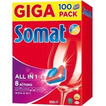 Таблетки для посудомоечной машины Somat All в 1100 шт