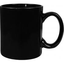 Чашка керамическая евроцилиндр Economix PROMO, черная