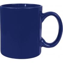 Чашка керамічна євроциліндр Economix PROMO, темно-синя