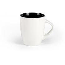 Чашка фарфоровая LILLY, бело-черная