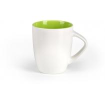 Чашка фарфоровая LILLY, бело-светло-зеленая