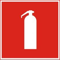 """Знак пожежний """"Вогнегасник"""" (розмір 150х150 мм, самоклейка)"""