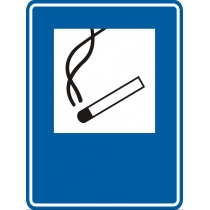 """Знак указательный """"Место курения"""" (размер 150х200 мм, самоклейка)"""
