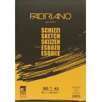 Склейка для эскизов Schizzi Sketch A3 (29,7*42 см), 90 г/м2, 100л., Fabriano