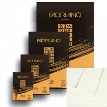 Склейка для ескізів Schizzi Sketch А4 (21*29,7см), 90 г/м2, 120 арк., Fabriano