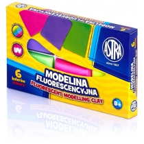 Моделин флуоресцентный 6 цветов