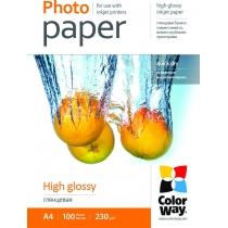 Фотобумага Color Way A4, глянцевая, 230г/м,  100 л.