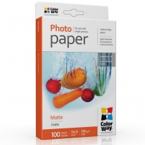 Фотобумага Color Way 10x15см, матовая, 190г/м,  100 л.
