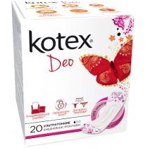 Щоденні гігієнічні прокладки Kotex Супер Тонкі Део 20 Люкс