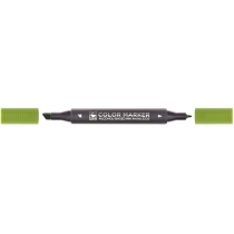 Маркер художественный двухсторонний для эскизов STA 3202, зеленая бронза