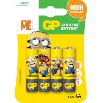 Батарейка GP ULTRA ALKALINE 1.5V лужна LR6 AA 4 штуки в упаковці