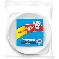 Тарелки Чесно Чек глубокие 500 мл 10 шт