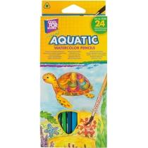 """Карандаши цветные акварельные """"Aquatic Extra Soft"""", 24 цветов, с кистью"""