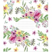 Зошит 24 аркушів, клітинка, Квіткові
