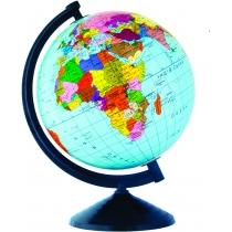 Глобус політичний лакований без підсвічування, пластикова підставка