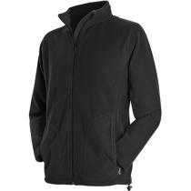 Куртка флисовая мужская ST 5030, размер S, цвет: черный