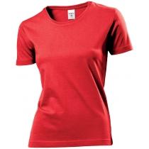Футболка женская ST 2600, размер L, цвет: красный